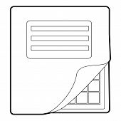 Folder With Table Excel Icon. Outline Illustration Of Folder With Table Excel Icon For Web Design poster