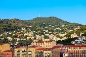 Nice Aerial Panoramic View. Nice Is A City Located On The French Riviera Or Cote Dazur In France. poster