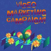 Handwriting Text Video Marketing Campaign. Concept Meaning Assessing The Benefit Of Digital Campaign poster