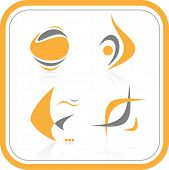 Vector abstract internet icon. Orange set. Simply change. Other abstract icons you can see in my por