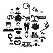 Occupational Icons Set. Simple Set Of 25 Occupational Vector Icons For Web Isolated On White Backgro poster