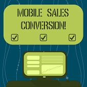 Text Sign Showing Mobile Sales Conversion. Conceptual Photo Any Desired Action That You Want The Use poster