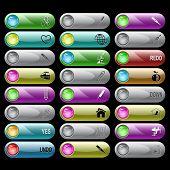 Постер, плакат: Растровые набор кнопок Интернет 24 элементы