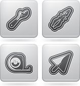 foto of lineman  - 4 icons from Construction Industry theme, from left to right, top to bottom: 
