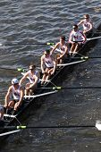 Boston College High School races in the Head of Charles Regatta
