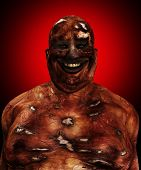 image of festering  - Very fat and horrible looking Zombie for Halloween - JPG
