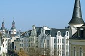 picture of bonnes  - Old city buildings in the center of Bonn Germany - JPG