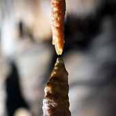 stock photo of carlsbad caverns  - Stalactite stalagmite cavern - JPG