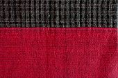 Black and red pattern fabric texture