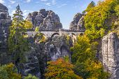 Bridge Named Bastei In Saxon Switzerland