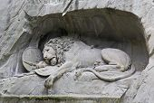 The Dying Lion Monument In Luzern poster