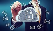 image of encoding  - Secured Online Cloud Computing Concept with business man - JPG
