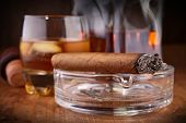 picture of cigar  - whisky and cigar - JPG