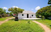 picture of slave-house  - very old restored slave on curacao on a sunny day - JPG