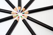 stock photo of storyboard  - colored school pencils - JPG