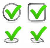 stock photo of confirmation  - check mark icon - JPG