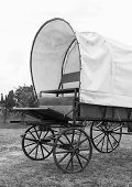 image of covered wagon  - Black  - JPG