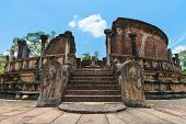 stock photo of polonnaruwa  - Vatadage is a type of Buddhist structure found only in Sri Lanka. Ancient city Polonnaruwa.