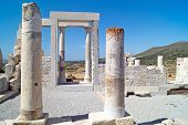 pic of cultural artifacts  - Temple of Demeter Naxos island in Greece - JPG