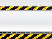 image of safety barrier  - Hazard background design with place for text - JPG