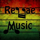 image of reggae  - Illustration of a symbol of reggae music in the background - JPG