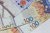 picture of ringgit  - Malaysia Ringgit Note for background or texture - JPG