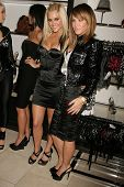 Ashley Roberts and Robin Antin   at the Launch of the Pusscat Dolls Lingerie '...Shhh'. Bebe, Beverl