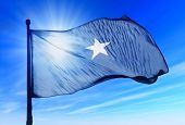 Somalia flag waving on the wind