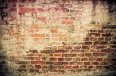 image of brick block  - Old red brick wall textures and backgrounds - JPG
