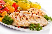 stock photo of boil  - Grilled chicken fillet - JPG