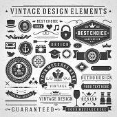 foto of arrow  - Vintage vector design elements - JPG