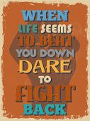 pic of daring  - Retro Vintage Motivational Quote Poster - JPG