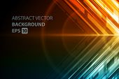 stock photo of glow  - Abstract vector background - JPG