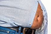 stock photo of beer-belly  - man with overweight - JPG