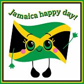 pic of rastaman  - Jamaica happy day Greeting card - JPG