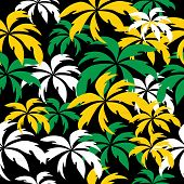 image of rastaman  - Palm trees in Jamaica colors - JPG