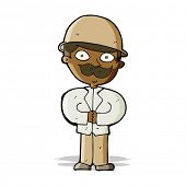 foto of safari hat  - cartoon man in safari hat - JPG