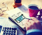 stock photo of accounting  - Value Added Tax VAT Finance Taxation Accounting Concept - JPG