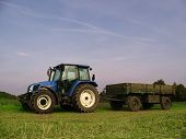 pic of skidder  - Tractor on harvest - JPG