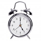 pic of chronometer  - Five hours on a round alarm clock - JPG
