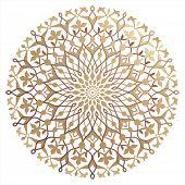 stock photo of symmetry  - Islamic floral pattern - JPG