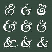 picture of ampersand  - Custom decoration ampersands for wedding invitation - JPG