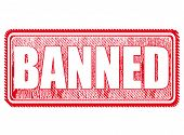 picture of banned  - grunge stamp with text banned on vector illustration - JPG
