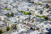 stock photo of overpopulation  - Residential area in San Francisco California USA - JPG