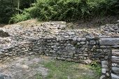 picture of fortified wall  - Archaeological site of Castelseprio  - JPG