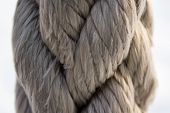 pic of nautical equipment  - Gray nautical material rope closeup background texture - JPG