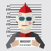 image of gangster  - Mugshot Of Gangster Vector Illustration - JPG