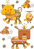 picture of steampunk  - Illustration of Robotic Animals with a Steampunk Design - JPG