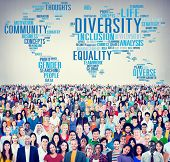 image of racial diversity  - Diversity Crowd Community Business People Concept - JPG