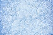 foto of refraction  - crushed ice in front of the white background  - JPG
